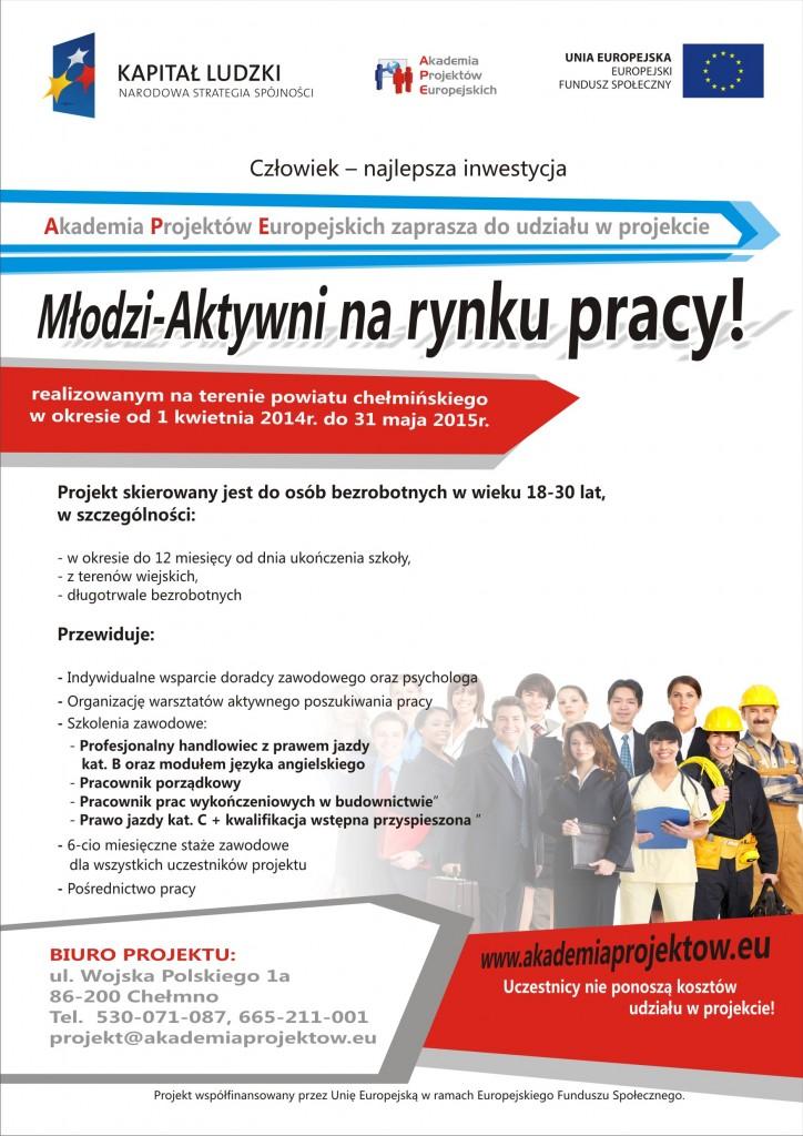 plakat młodzi aktywni